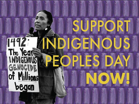 Sinking Columbus: BOSTON marches for indigenous peoples day