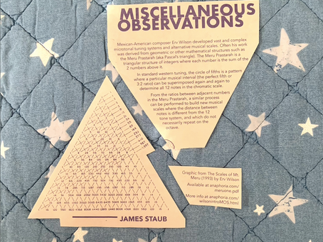Miscellaneous Observations — Musical Scales