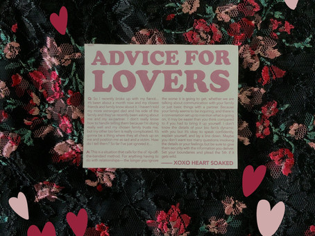 Advice for Lovers: They're Expecting to Hear From You