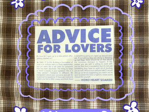 Advice for Lovers: Opening Up