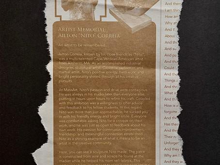 "Artist Memorial: Ailton ""Nito"" Correia"