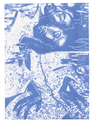 Blue Sleep Print