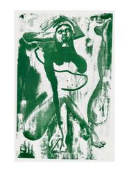 Green Lady Print