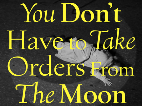 """When it gets too dark - An analysis of Jaina Cipriano's """"You don't have to take orders from the moon"""