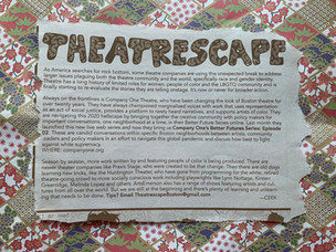 Theatrescape: Theatre Companies On The Frontlines Of Social Change