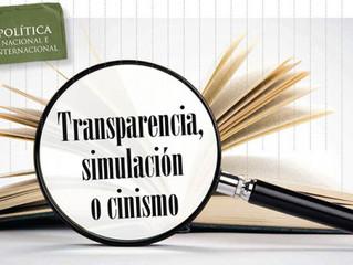 Transparencia, Simulación ó Cinismo