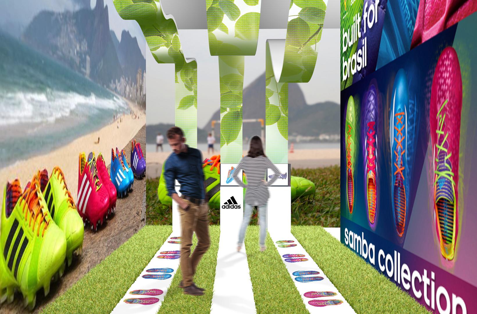 Adidas showroom / 3d entrance