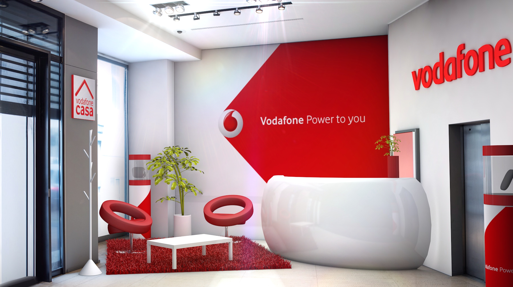 Vodafone Casa / entrance