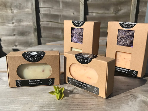 Natural packaging soap gift set