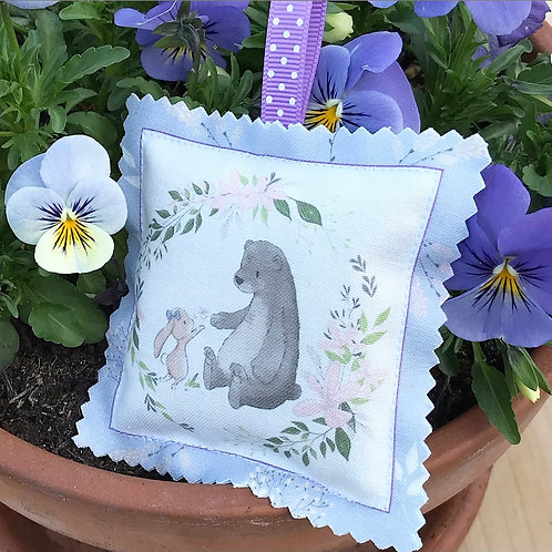 Bunny and Bear hanging sachet