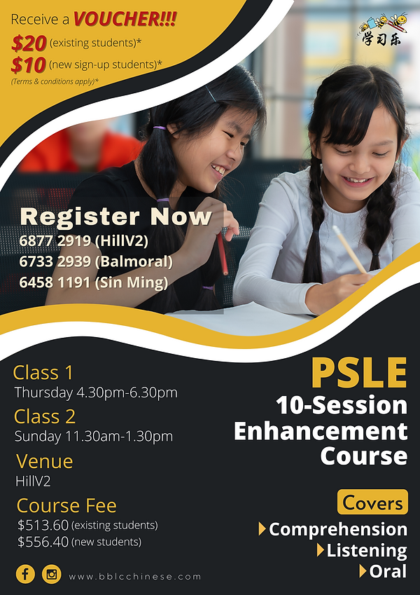 2021 PSLE 10-session enhancement course.