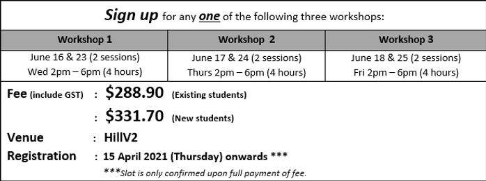 2021 S3HCL O-level June Holidays Oral Wo