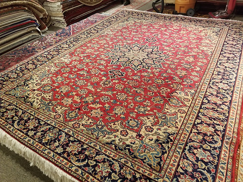 9' x 11' Persian Isfahan Circa 1940 100% Wool Handmade-Knotted Rug