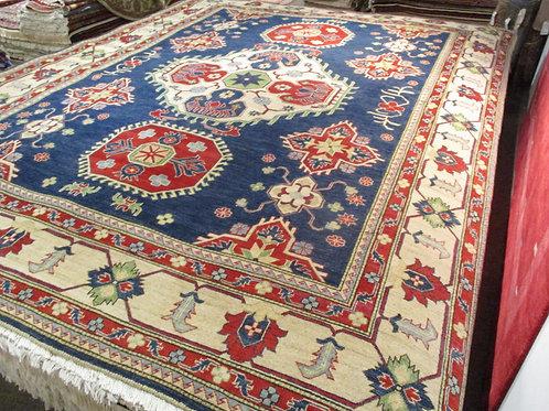 9' x 12' Kazak Tribal 100% Wool Handmade-Knotted Rug