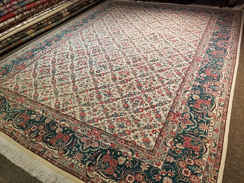 9' x 12' Antique Kashan 100% Wool Handmade-Knotted Rug