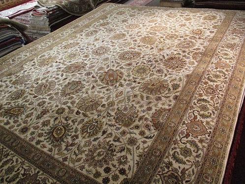 9' x 12' Fine Tabriz 100% Wool Handmade-Knotted Rug