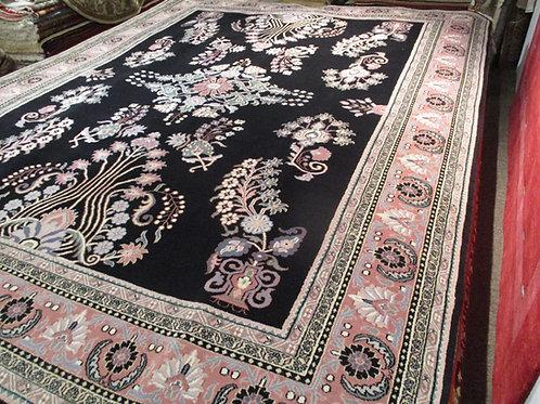 9' x 12' Kerman 100% Wool Handmade-Knotted Rug