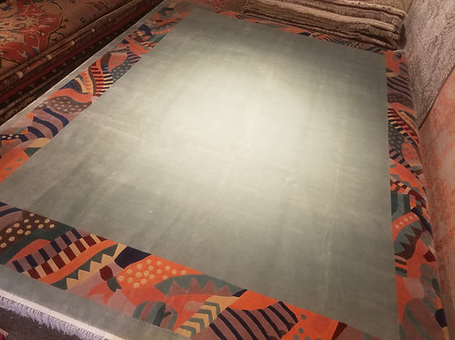 9' x 12' ABC Collection 100% Silk Handmade-Knotted Rug