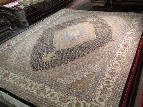 9' x 12' Tabriz Mahi Formal Silk/Wool Handmade-Knotted Rug