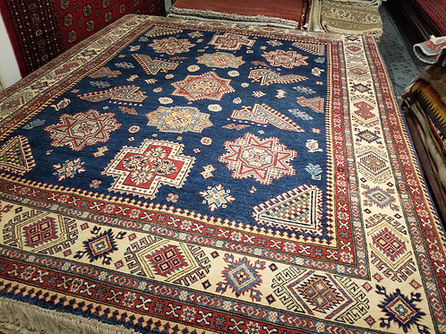 8' x 10' Tribal 100% Wool Handmade-Knotted Rug
