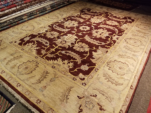 9' x 12' Gorgeous design 100% Wool Handmade-Knotted Rug