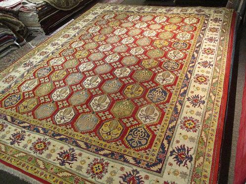 9' x 12' Kazak 100% Wool Handmade-Knotted Rug