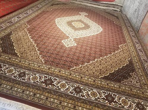 9' x 12' Intricate Tabriz 100% Wool Handmade-Knotted Rug