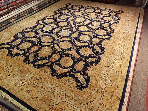 9' x 12' Antique Tabriz All-over Pattern 100% Wool Handmade-Knotted Rug
