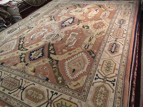 9' x 12' Persian Tribal 100% Wool Handmade-Knotted Rug