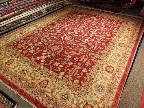 9' x 12' Antique Persian Design 100% Wool Handmade-Knotted Rug