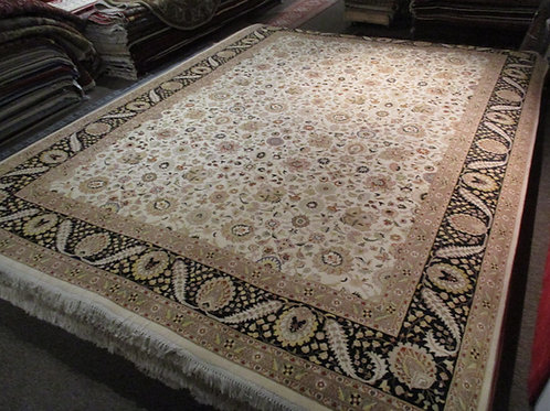 9' x 12' Amazing Tabriz Silk/Wool Handmade-Knotted Rug