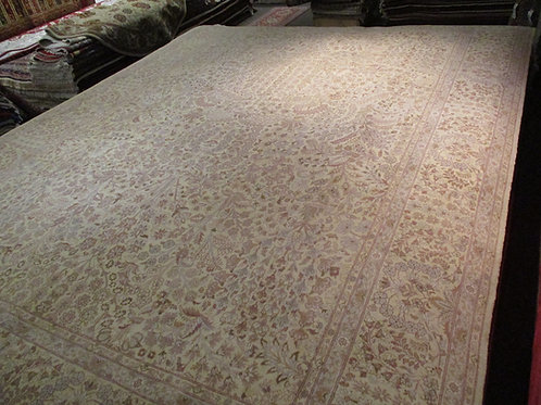 9' x 12' Tabriz 100% Wool Handmade-Knotted Rug