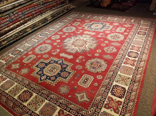9' x 12' Tribal Geometric 100% Wool Handmade-Knotted Rug