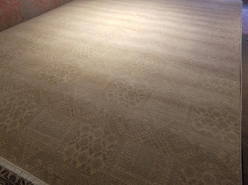 9' x 12' Modern 100% FINE Wool Handmade-Knotted Rug