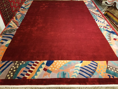 8' x 11' ABC Collection 100% Silk Handmade-knotted Rug