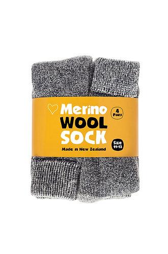 Merino Wool Sock - 4 Pairs