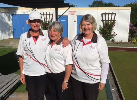 Women's Triples Team in playoffs