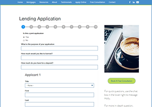 Online lending application form - apply for your mortgage online here.