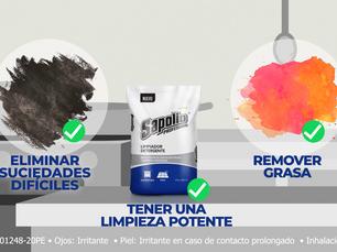 Limpia tu zona de trabajo usando detergente Sapolio