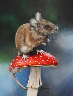 Mouse Mushroom #2 7x9 inch board