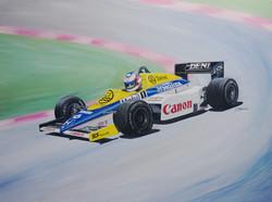 1985 Williams Honda FW10 16x12inch