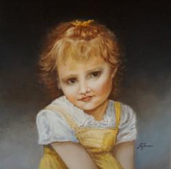 Little Anna 12x12 oil on canvas