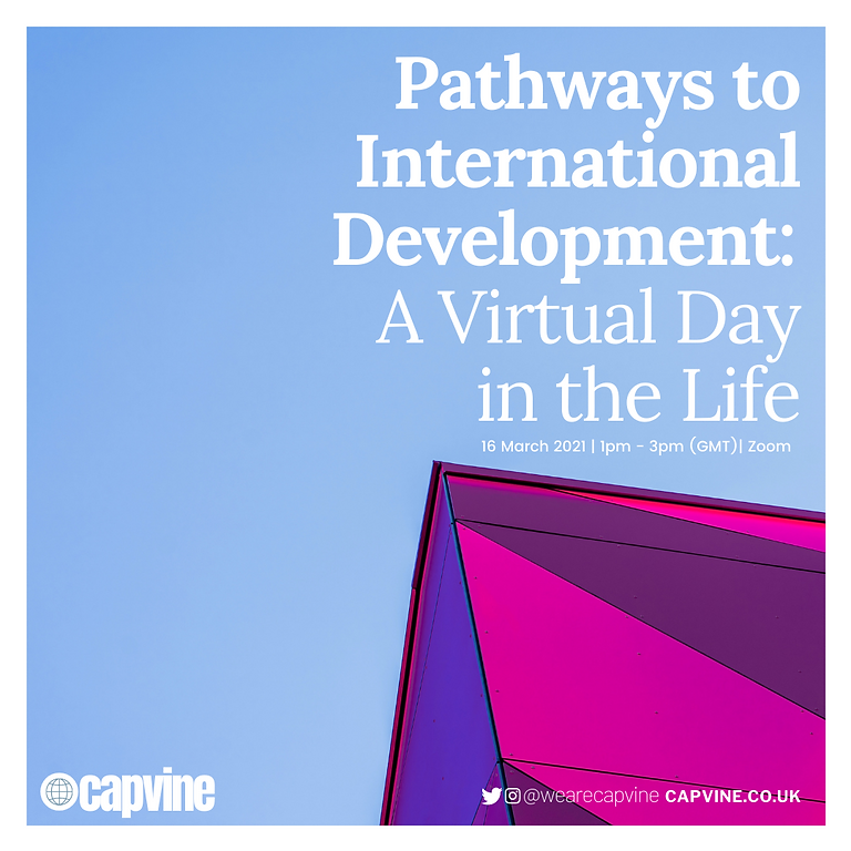 Pathways to International Development: A Virtual Day in the Life