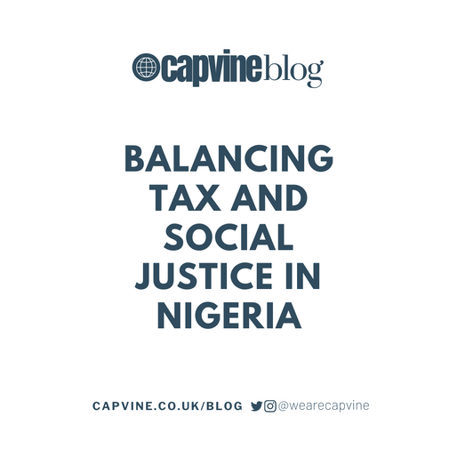 Balancing Tax and Social Justice in Nigeria