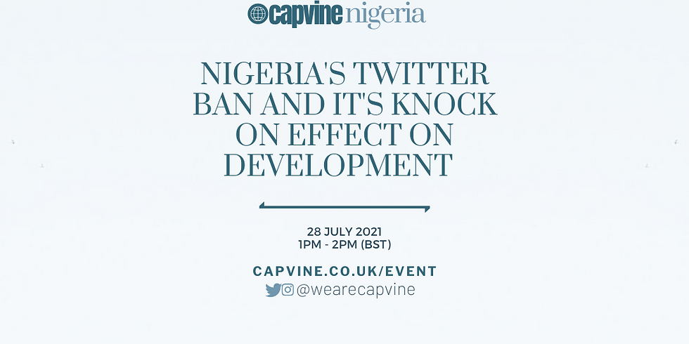 Nigeria's Twitter Ban and its Knock-on Effect on Development