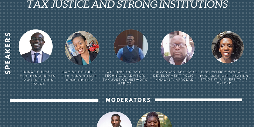 'We're in This Together': Building Financial Resilience with Tax Justice and Strong Institutions.