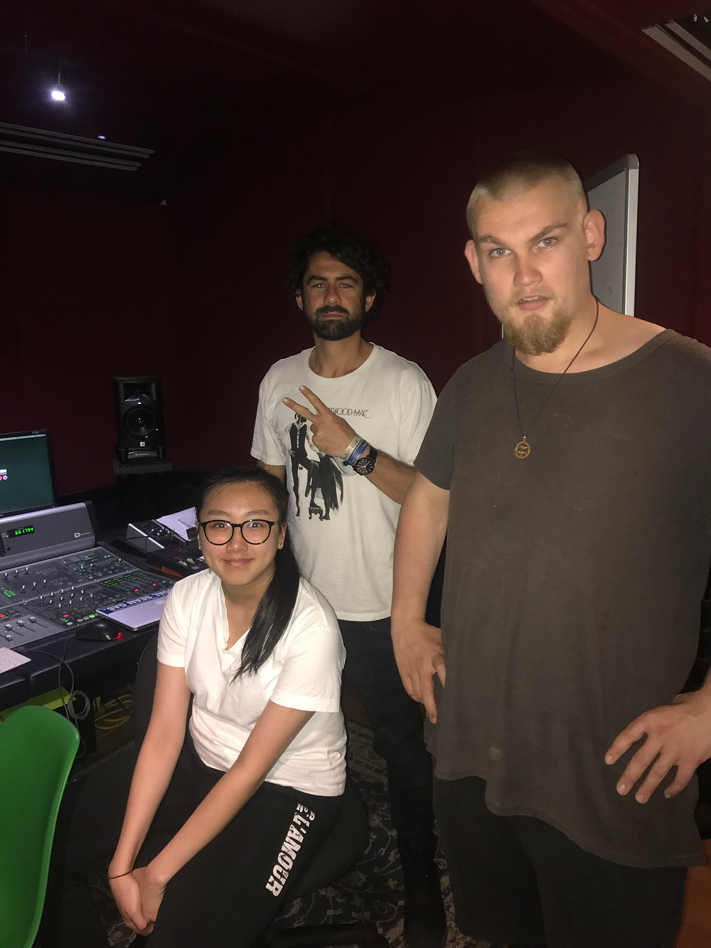 Our 'Second Chances' Film Audio team, Jo Hunyh, Angus Price, and myself