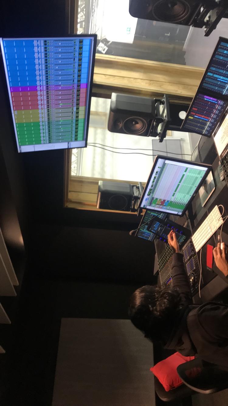 The Avid S6 control room