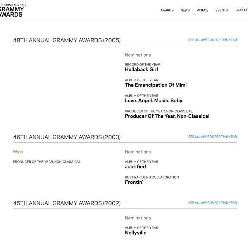 The Neptunes Grammy awards