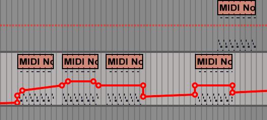 Volume automation for siren midi